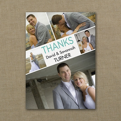 Collage Angle - Photo Thank You Note