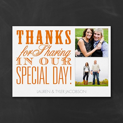 Special Thanks - Photo Thank You Note