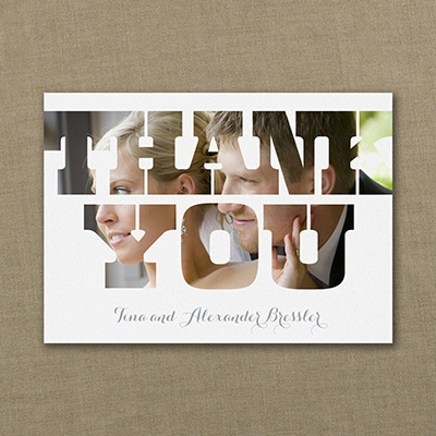 Modern Thanks - Photo Thank You Note
