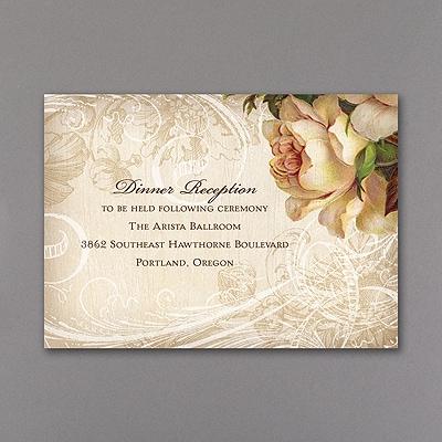 Vintage Roses - Reception Card