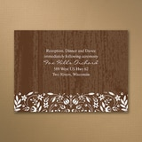 Woodland Flowers - Reception Card - Mocha