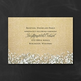 Burlap Blossoms - Reception Card