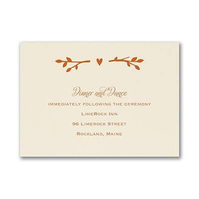 Enchanted Garden - Trees - Reception Card - Trees