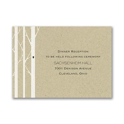 Woodsy Celebration Reception Card