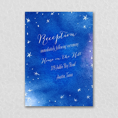 Starry-Eyed Love Reception Card