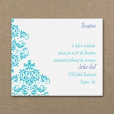 Vibrant Damask - Reception Card