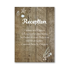Seaside Delight - Reception Card