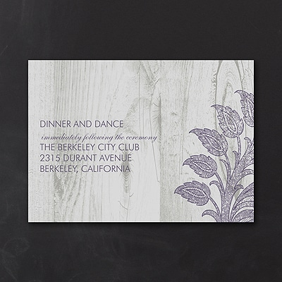 Inspiring Lace - Reception Card