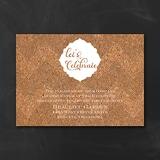 Corkboard Chevron - Reception Card