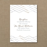 Marbled Chevron - Reception Card