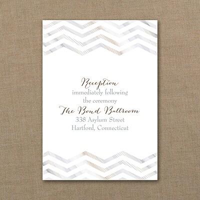 Marbled Chevron - Reception Card