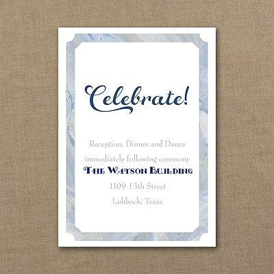 Classical Marble - Reception Card