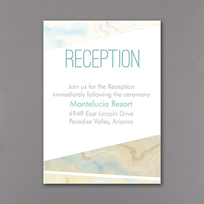 Marbled Geometry - Reception Card