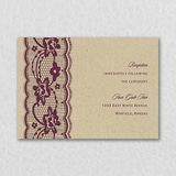Love Lace - Reception Card