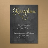Shiny Love - Gold - Reception Card