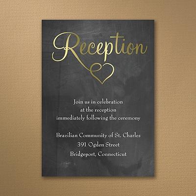 Shiny Love - Gold - Reception Card