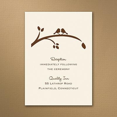 Birch Tree Love - Reception Card - Ecru