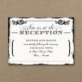 Antique Filigree Frame - Reception Card