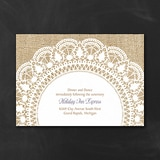 Surrounded in Lace - Reception Card - White