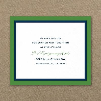 Bold Double Border - Reception Card