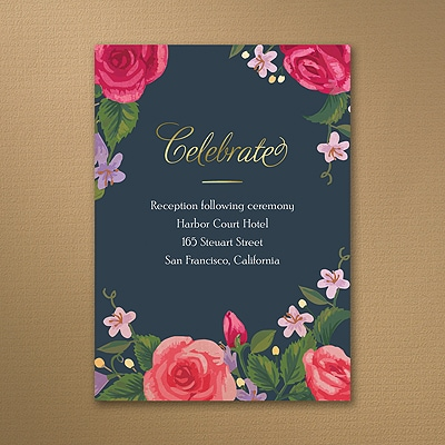 Vintage Flowers - Reception Card