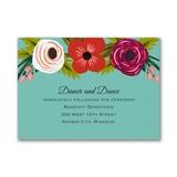 Flowery Boho - Reception Card