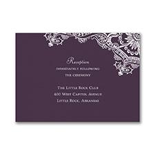 Lace Vintage - Reception Card