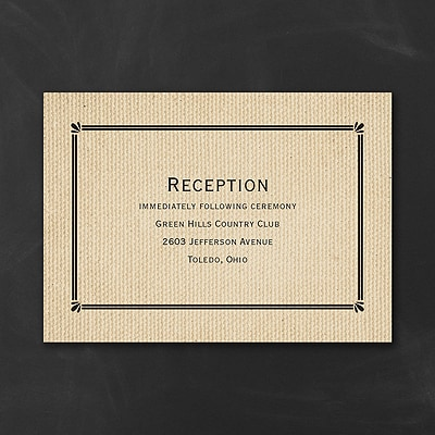 Rustic Style - Reception Card