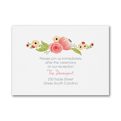 Watercolor Blossoms - Reception Card