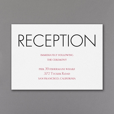 Having and Holding - Reception Card