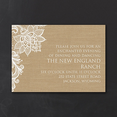 Lacy Burlap - Reception Card