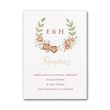Boho Blossoms - Reception Card