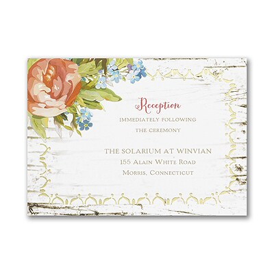 Natural We Do - Reception Card