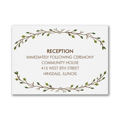 Whimsical Rustic - Reception Card