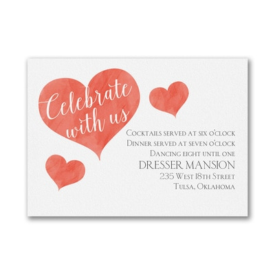 Bright Love Story - Reception Card