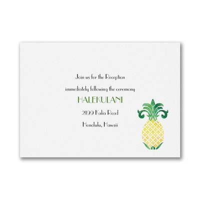 Watercolor Pineapple -Reception Card