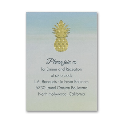 Gleaming Pineapple - Reception Card