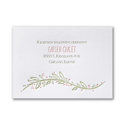 Boho Vines - Reception Card