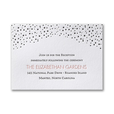 Spotted Shape - Reception Card
