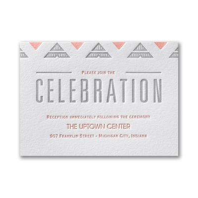 Deco Geometric - Reception Card