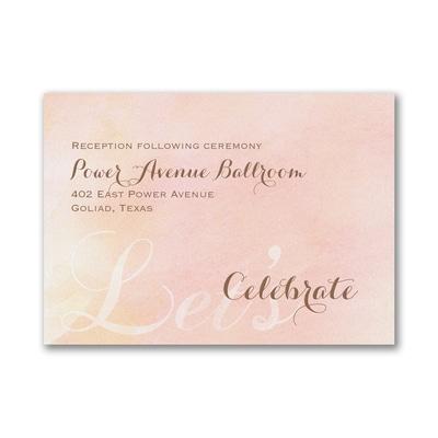 Blushing Watercolor - Reception Card