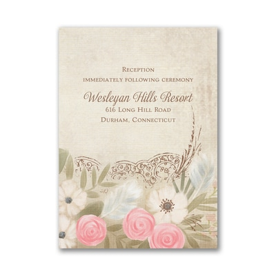 Boho Breeze - Reception Card