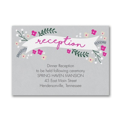 Wedding Day Banner - Reception Card