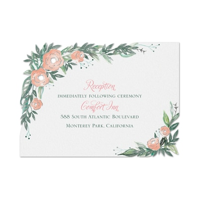 Wrapped in Floral - Reception Card
