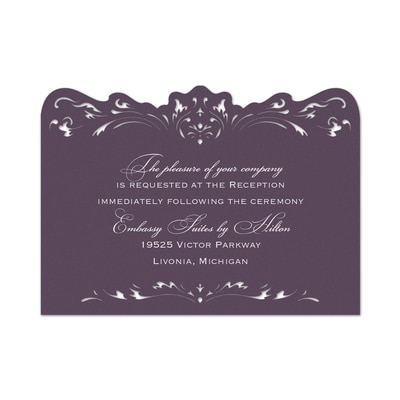 Damask and Filigree - Reception Card