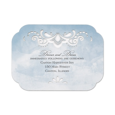 Watercolor Lace - Reception Card