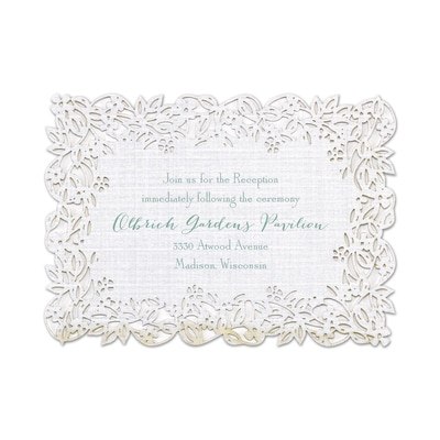 Linen Love - Reception Card