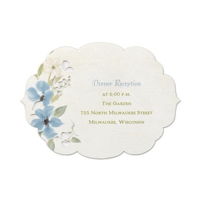 Captivating Flowers - Reception Card