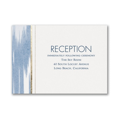 Contemporary Ikat - Reception Card