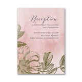 Blushing Blossoms - Reception Card